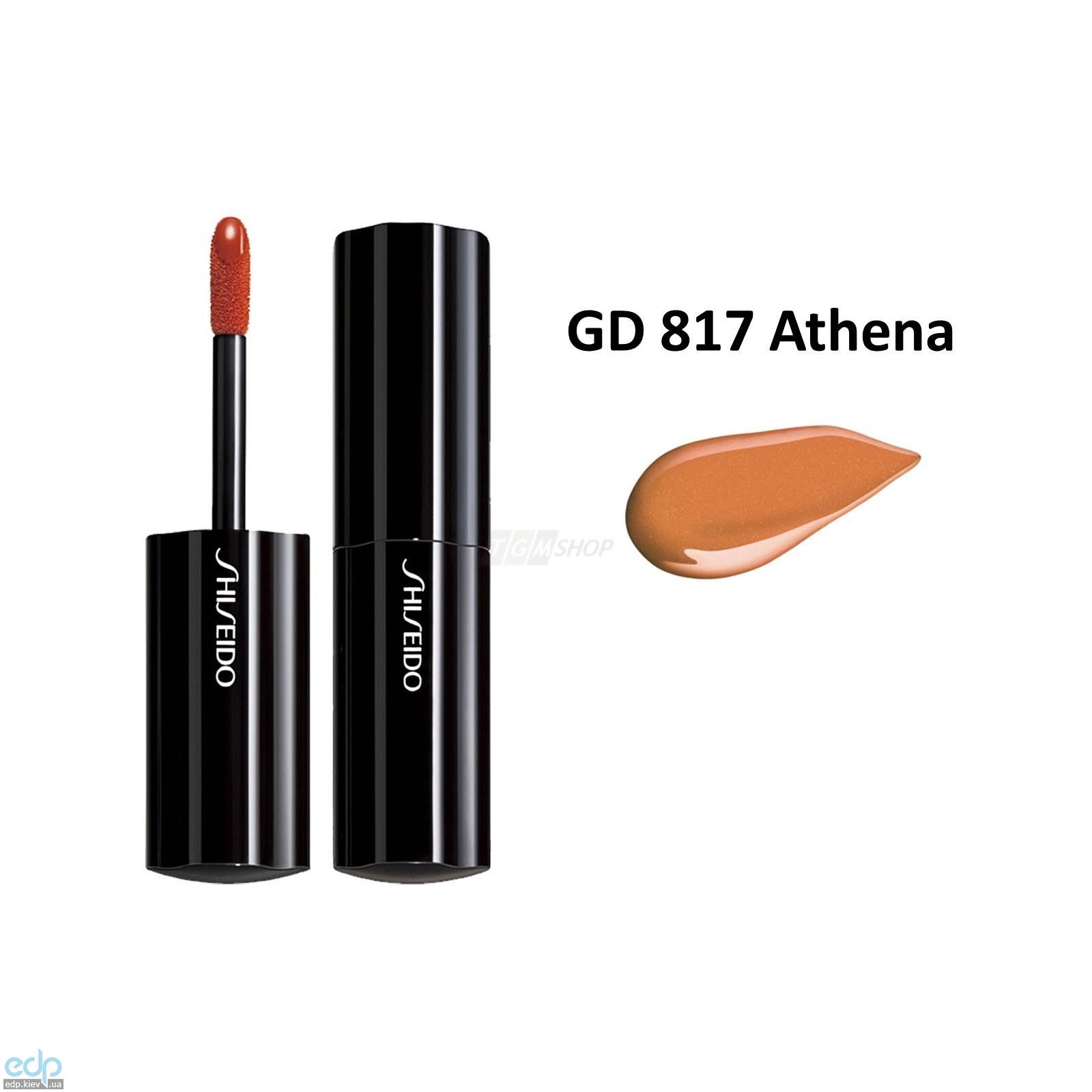 Shiseido - Помада-блеск для губ с эффектом глянцевого сияния Lacquer Rouge GD 817Athena - 6 ml