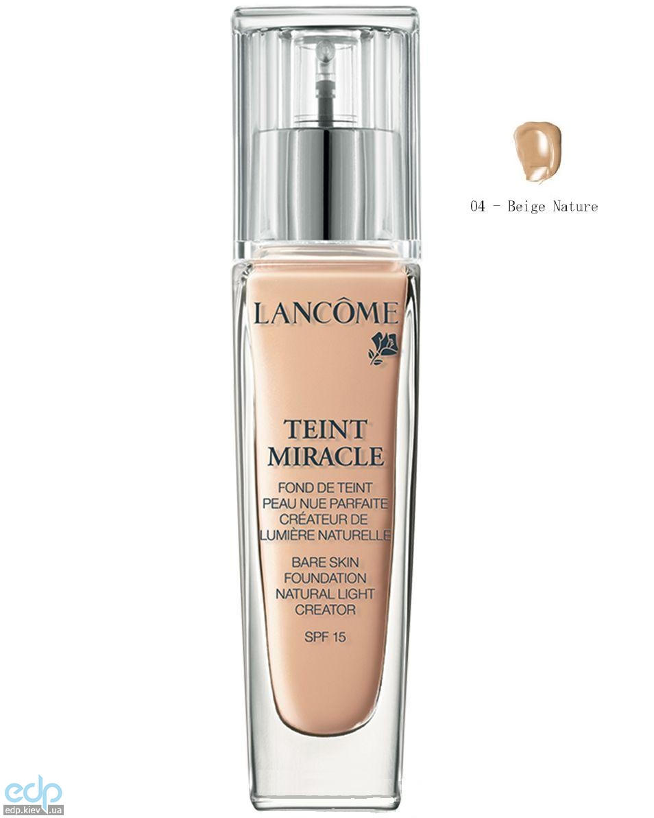 Lancome - Крем тональный Teint Miracle SPF 15 №04 Beige Nature - 30 ml