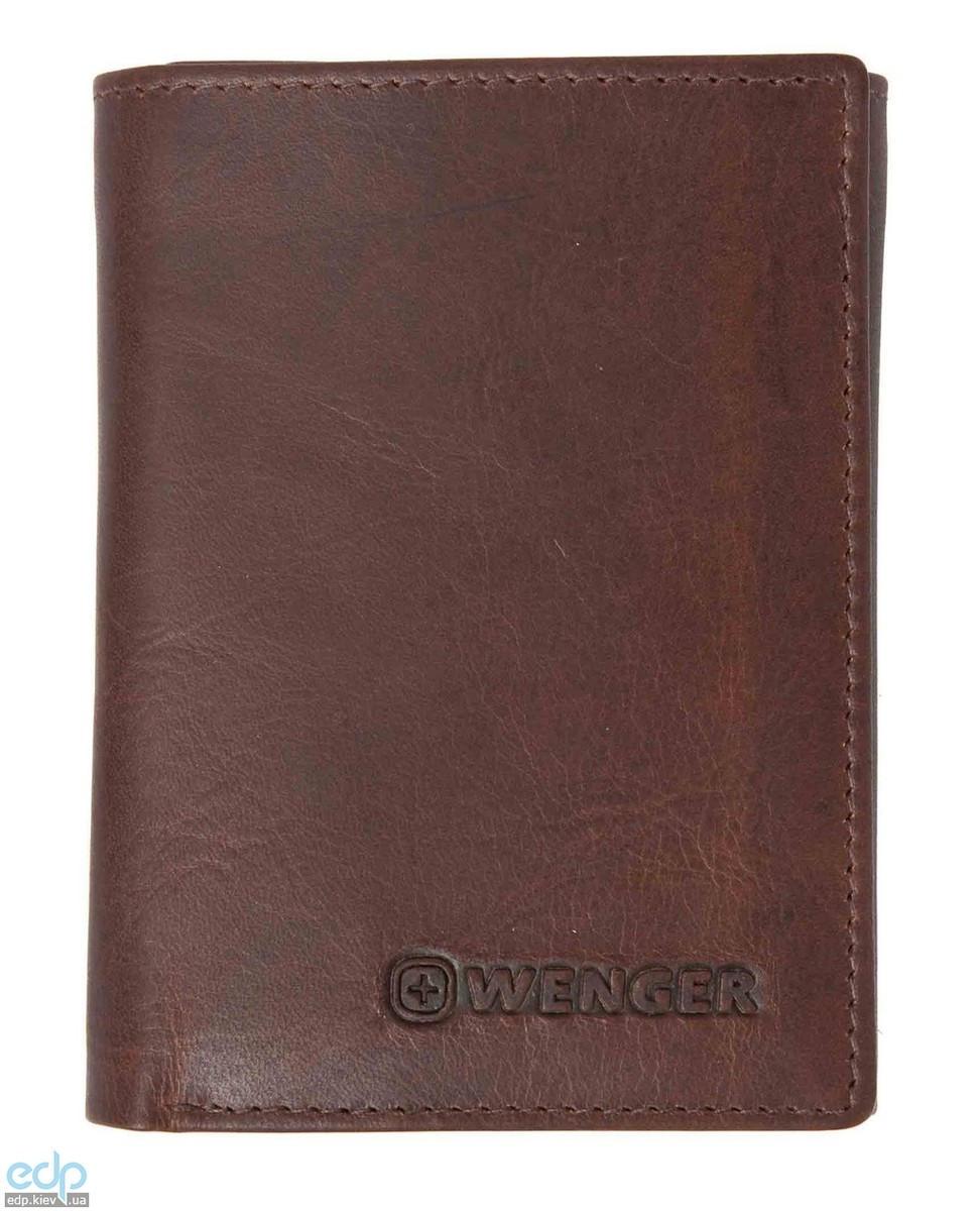 Портмоне тройное Wenger (коричневое) - 10,5х8 см (WEW056.70)