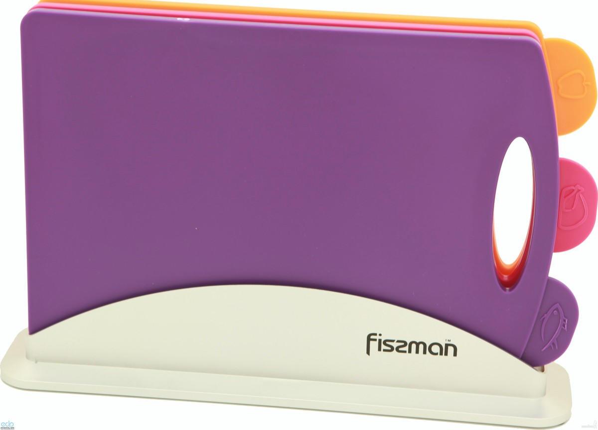 Fissman - Набор досок на подставке 3 штуки 32 х 22 см пластик (AY-7242.CB)