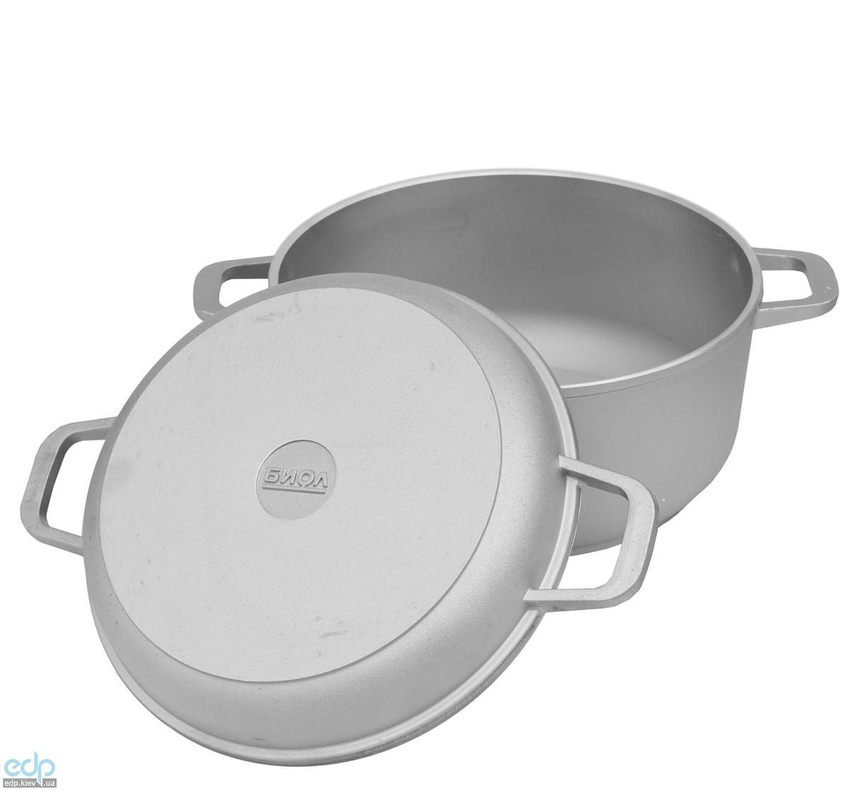 Биол - Кастрюля + крышка-сковорода алюминиевая диаметр 26 см объем 5 л (К502)