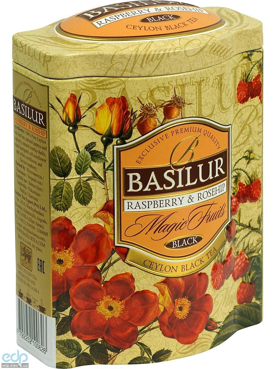 Basilur - Чай черный Magic Fruits Малина и шиповник - жестяная банка - 100g (4792252100626)