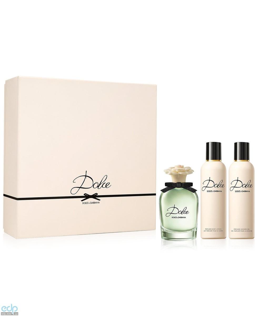 Dolce Gabbana Dolce - набор (парфюмированная вода 75 ml + лосьон-молочко для тела 100 ml+ гель для душа 100 ml)