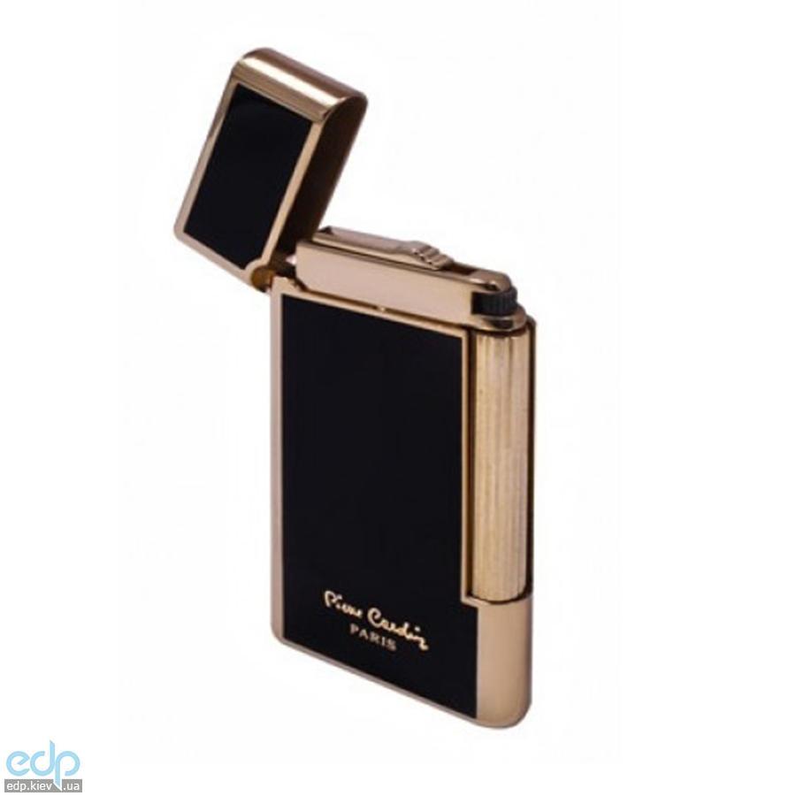 Pierre Cardin - Зажигалка газовая кремниевая золото/черный лак  (арт. MF-191-02)