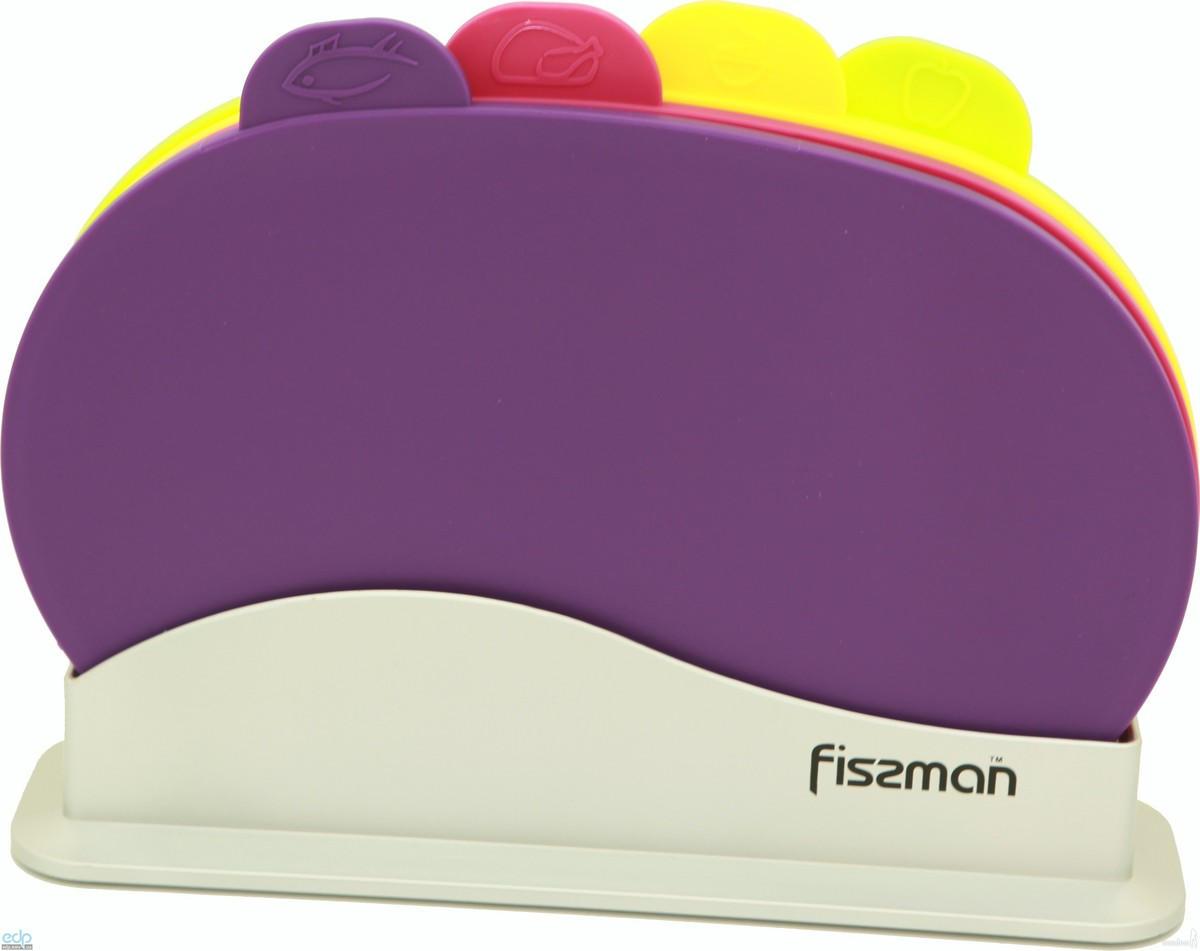 Fissman - Набор досок на подставке 4 штуки 30 х 22 см пластик (AY-7243.CB)