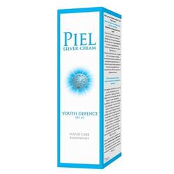 Piel Cosmetics Piel Silver Cream Youth Defenсe SPF 10 Hand Care Day and Night - Ежедневный уход за руками для всех типов кожи - 75 ml