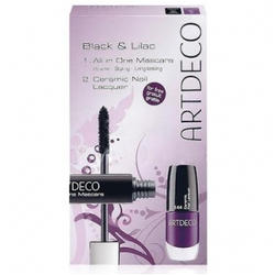 Набор Artdeco - Black and lilac Set - Тушь для ресниц All in One Mascara + Лак для ногтей Ceramic Nail Lacquer 144