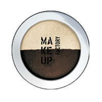 Make up Factory Тени для век Make Up Factory -  Duo Eye Shadow №12 Terra Brown/Golden Sand