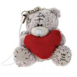 Брелок для мобильного телефона MTY (Me To You) -  плюшевый мишка с сердцем (арт. G01Q0676)