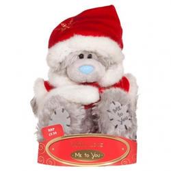 Игрушка плюшевый медвежонок MTY (Me To You) -  в костюме Деда Мороза 15 см (арт. G01W0178)