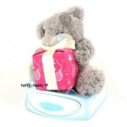 Игрушка плюшевый мишка MTY (Me To You) -  с подарком Happy Birthday 7.5 см (арт. G01W0253)