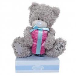 Игрушка плюшевая мишка MTY (Me To You) -  с подарком 15 см (арт. G01W0390)