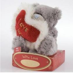 Игрушка плюшевый мишка MTY (Me To You) -  держит красное сердце Love You 7.5 см (арт. G01W0407)