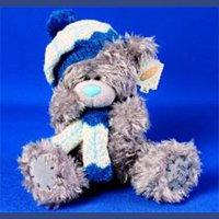 Игрушка плюшевый мишка MTY (Me To You) -  в шапке и шарфе 23 см (арт. G01W0566)