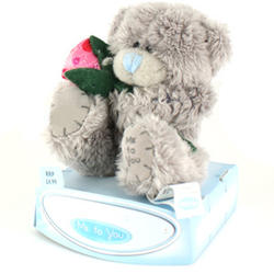 Игрушка плюшевый мишка MTY (Me To You) -  с розой With Love 7.5 см (арт. G01W0644)