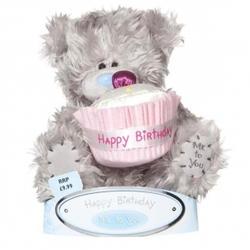 Игрушка плюшевый мишка MTY (Me To You) -  с кексом Happy Birthday 15 см (арт. G01W1049)