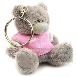 Брелок MTY (Me To You) -  плюшевый мишка в розовой футболке Just For You 7.5 см (арт. G01W1119)