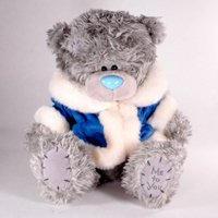 Игрушка плюшевый мишка MTY (Me To You) -  в голубой шубке Someone Special 25 см (арт. G01W1240)