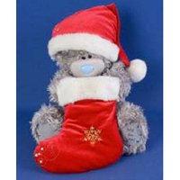 Игрушка плюшевый мишка MTY (Me To You) -  мишка держит носок для подарков 30 см (арт. G01W1252)
