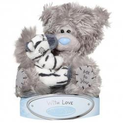Игрушка плюшевая MTY (Me To You) -  медвежонок с зеброй на руках 15 см (арт. G01W1506)