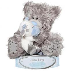 Игрушка плюшевая MTY (Me To You) -  медвежонок с коровой на руках 15 см (арт. G01W1507)