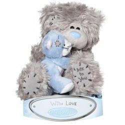 Игрушка плюшевая MTY (Me To You) -  медвежонок с котенком на руках 15 см (арт. G01W1508)