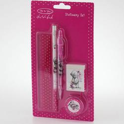 Набор канцтоваров MTY (Me To You) (ручка + карандаш + точилка + стир. резинка + линейка 15 см) (арт. G91S0019)