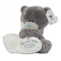 Игрушка плюшевый мишка MTY (Me To You) -  Tiny Tatty Teddy с белым одеялом 15 см (арт. G92W0005)