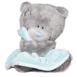 Игрушка плюшевый мишка MTY (Me To You) -  Tiny Tatty Teddy с голубым одеялом 15 см (арт. G92W0016)
