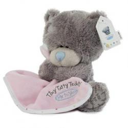 Игрушка плюшевый мишка MTY (Me To You) -  Tiny Tatty Teddy с розовым одеялом 15 см (арт. G92W0017)