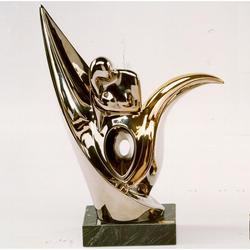 Статуэтки Galos (Испания) - Цветок лотоса - 31 x 24 см. (фарфор, покрытие платиной, золотом)