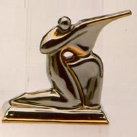 Статуэтки Galos (Испания) - Охотник - 12 x 13 см. (фарфор, покрытие платиной, золотом)