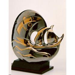 Статуэтки Galos (Испания) - Море - 23 x 16 см. (фарфор, покрытие платиной, золотом)