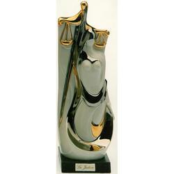 Статуэтки Galos (Испания) - Юстиция - 33 x 12 см. (фарфор, покрытие платиной, золотом)