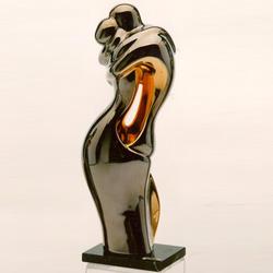 Статуэтки Galos (Испания) - Эмбрасе - 30 x 10 см. (фарфор, покрытие платиной, золотом)