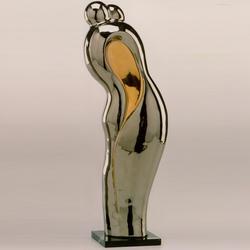 Статуэтки Galos (Испания) - Эмбрасе - 40 x 15 см. (фарфор, покрытие платиной, золотом)
