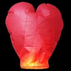 Небесный фонарик - Сердце - 1 шт