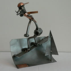 Статуэтки Hinz and Kunst (Германия) - Сноубордер - 21 x 14 см. (металл)
