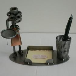 Статуэтки Hinz and Kunst (Германия) - Дворецкий (подставка для стикеров, ручки) - 16 x 18 см. (металл)