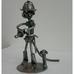 Статуэтки Hinz and Kunst (Германия) - Пожарник - 20 x 17 см. (металл)