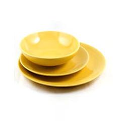 Maestro - Тарелка обеденная керамика желтая (МР20004-18S-3ж)
