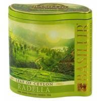 Basilur - Чай зеленый Лист Цейлона Раделла - жестяная банка - 100g (4792252926837)