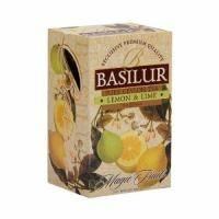 Basilur - Чай черный Magic Fruits Лимон и лайм - в пакетиках - 20шт. x 2g (4792252001077)