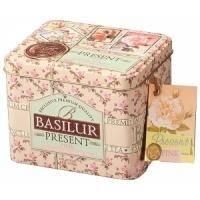Basilur - Чай черный Розовый подарок - жестяная банка - 100g (4792252100282)