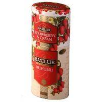 Basilur - Чай черный Рухуну + Клубника со сливками 2в1 - жестяная банка - 125g (4792252201187)
