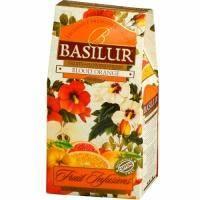 Basilur - Чай Фруктовые коктейли Красный апельсин - картонная коробка - 100g (4792252923898)