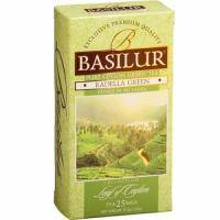 Basilur - Чай зеленый Лист Цейлона Раделла - в пакетиках - 25шт. х 1.5g (4792252917514)