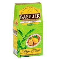 Basilur - Чай зеленый Мед и лимон Коллекция Волшебные фрукты - картонная коробка - 100g (71387-00)