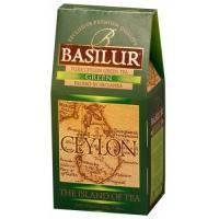 Basilur - Чай зеленый Остров Цейлон Зеленый -  картонная коробка - 100g (4792252001169)