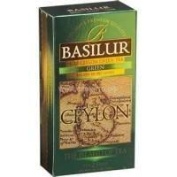 Basilur - Чай зеленый Остров Цейлон Зеленый -   в пакетиках - 25шт. x 1.5g (4792252917231)